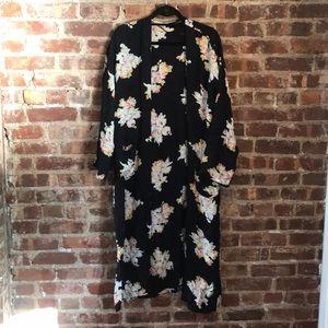 Zara Asian Inspired Black Kimono / Robe